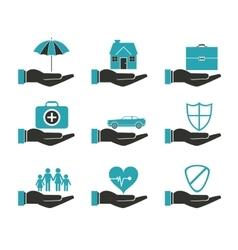 Insurance icon design vector image