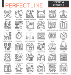 sport and fitness outline concept symbols perfect vector image