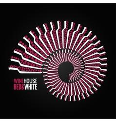 wine bottle concept design backgraund vector image vector image