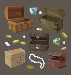hidden treasures set vector image vector image