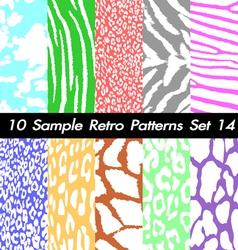 10 Retro Patterns Textures Set 14 vector