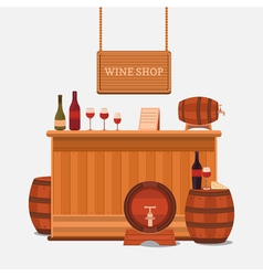 a wine shop vector image