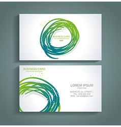 Abstract green colorful business card vector image