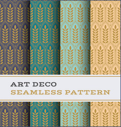 art deco seamless pattern 28 vector image