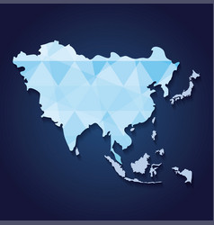 asia map icon vector image