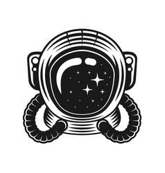 Astronaut helmet isolated vector