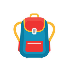 Backpack - concept icon in flat graphic design vector