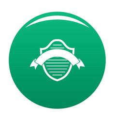 badge premium icon green vector image