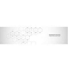 Banner design with hexagons abstract vector