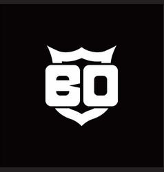 bd logo monogram with shield around crown shape vector image