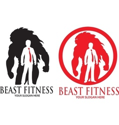 Beast fitness logo vector