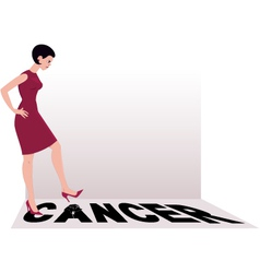 Beat cancer vector