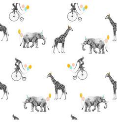 Beautiful seamless pattern with safari vector