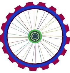 Bicycle wheel isolated on white bike vector image