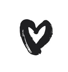 Black heart symbol vector