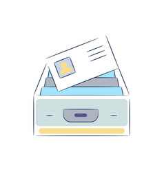 Box with file documents icon vector