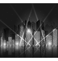 Bright night cityscape vector