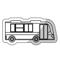 Bus transport city outline vector