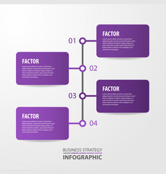 Business infographics template design for vector