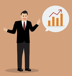 Businessman talking financial planning with body vector image