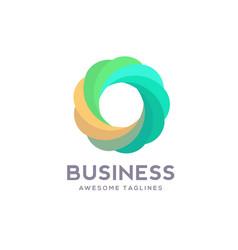 circle logo various colors vector image