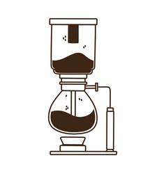 coffee syphon brew method line icon style vector image