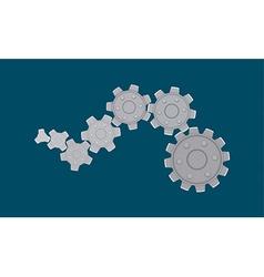 Cogwheels vector image