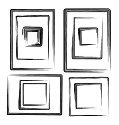 Collection grunge frames set elements vector