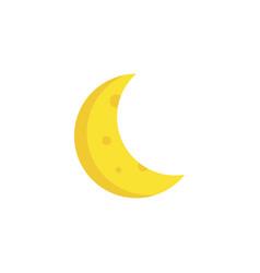 Crescent flat icon symbol premium quality vector