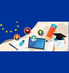 europe corruption eu education school university vector image