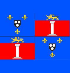 Flag of antony in hauts-de-seine france vector