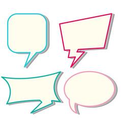 Four designs of speech bubbles vector