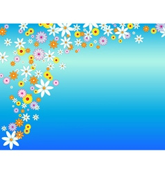 Glossy flower background vector