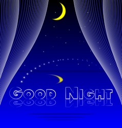 Good night bedroom background vector