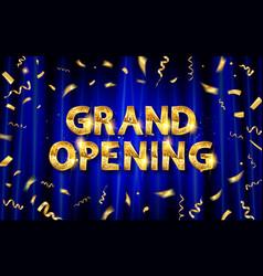 grand opening logo vector image