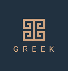 greek fret logo vector image