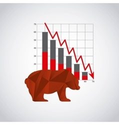 growth economy statistics icons vector image