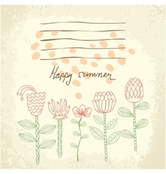 Hand drawn floral background vector image
