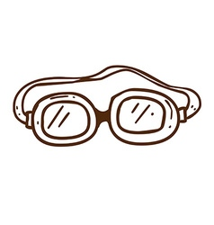 Hand Drawn Safety Glasses vector image