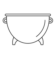 kitchen cauldron icon outline style vector image
