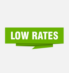 Low rates vector