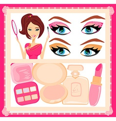 Make-up girl poster vector image