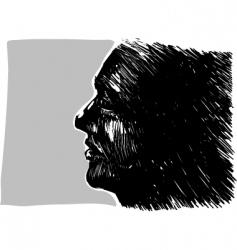 Man profile vector