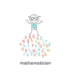 Mathematician is on the numbers vector