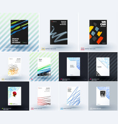 Mega set of abstract templates for business vector