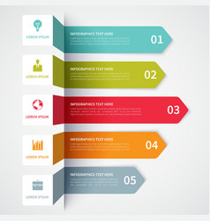 Modern Minimalistic infographics banner vector image