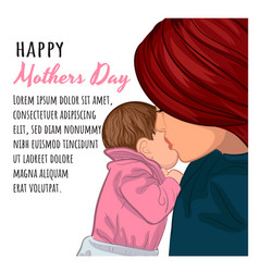 mothers day postcard is your text for printing vector image