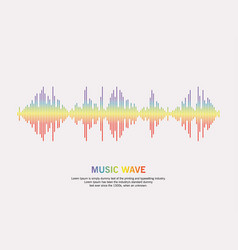 Music wave player logo vector