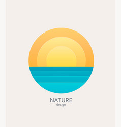 nature logo emblem or sticker vector image