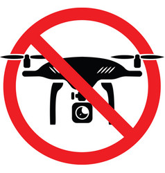 No drone allowed sign vector